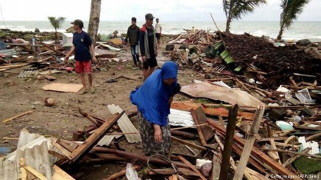 سونامی مرگبار در اندونزی با 222 کشته