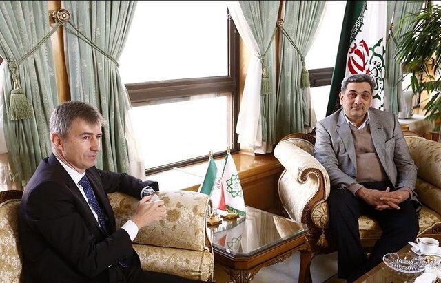دیدار سفیر سوییس با شهردار تهران