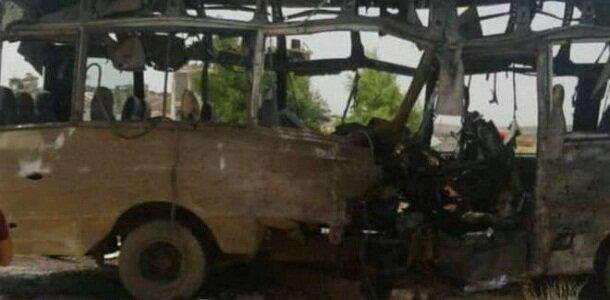انفجار بمب در جهت اتوبوس نظامیان سوری در شهر درعا
