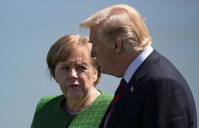 گفت وگو مرکل و ترامپ درباره ایران