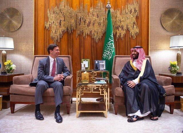 دیدار ولیعهد سعودی با رئیس پنتاگون