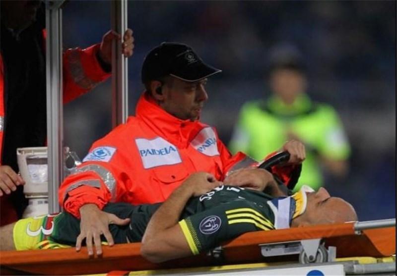 بازیکن میلان ضربه مغزی و بستری شد