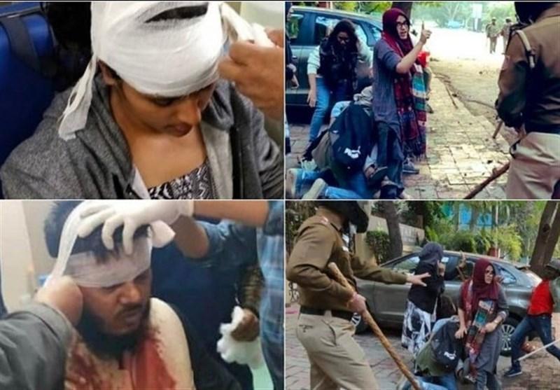 گزارش تصویری، سرکوب شدید مسلمانان معترض توسط نظامیان هندی و زخمی شدن بیش از 100 نفر