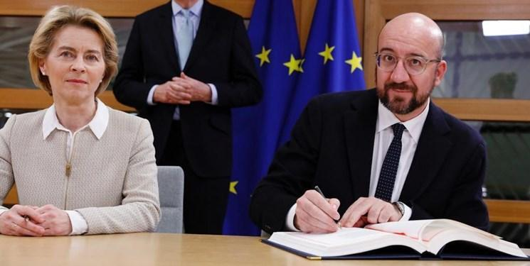 اتحادیه اروپا هم برگزیت را امضا کرد، خاتمه اتحاد لندن و بروکسل