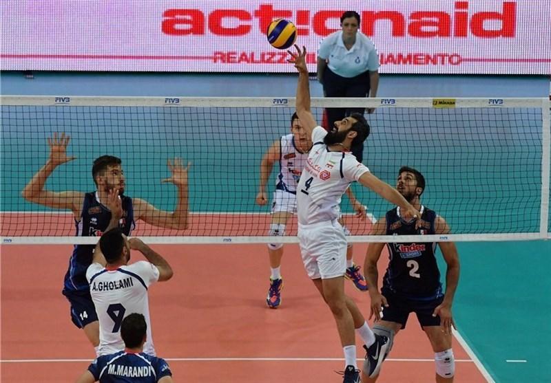 شکست تیم ملی والیبال ایران مقابل ایتالیا