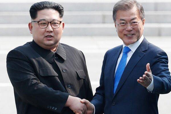 نامه نگاری رهبران دو کره درباره کرونا