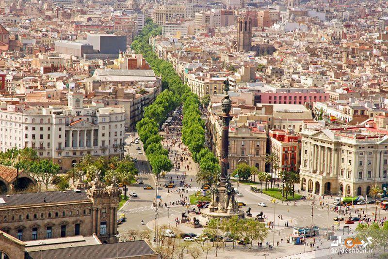 خیابان هیجان انگیر لا رامبلا از معروف ترین خیابان های بارسلون