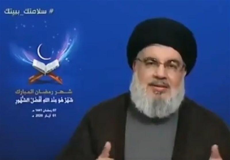 سید حسن نصرالله به مناسبت ماه مبارک رمضان: صبر در برابر فساد و اشغالگری حرام است