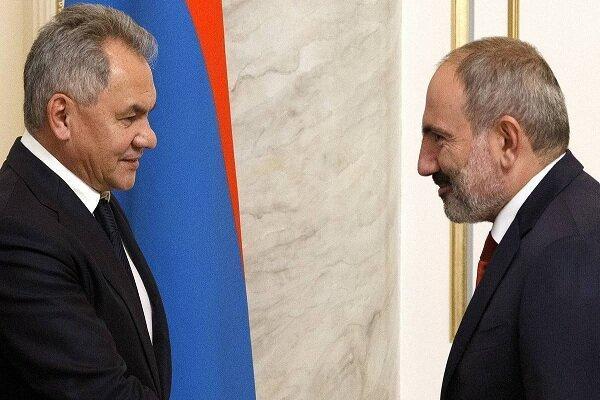 رایزنی وزیر دفاع روسیه با نخست وزیر ارمنستان