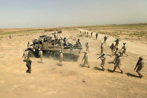 عملیات نیروهای حشد شعبی علیه داعش در نزدیکی مرزهای سوریه