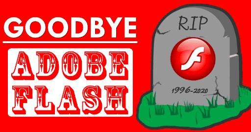 خداحافظی با نرم افزار فلش پلیر در سال جدید