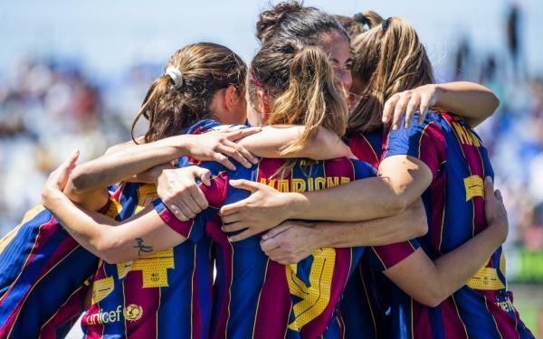 تیم زنان بارسا قهرمان لالیگا شد