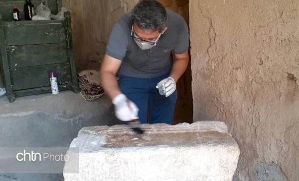 کتیبه 400 ساله روستای گلابر زنجان بازسازی شد